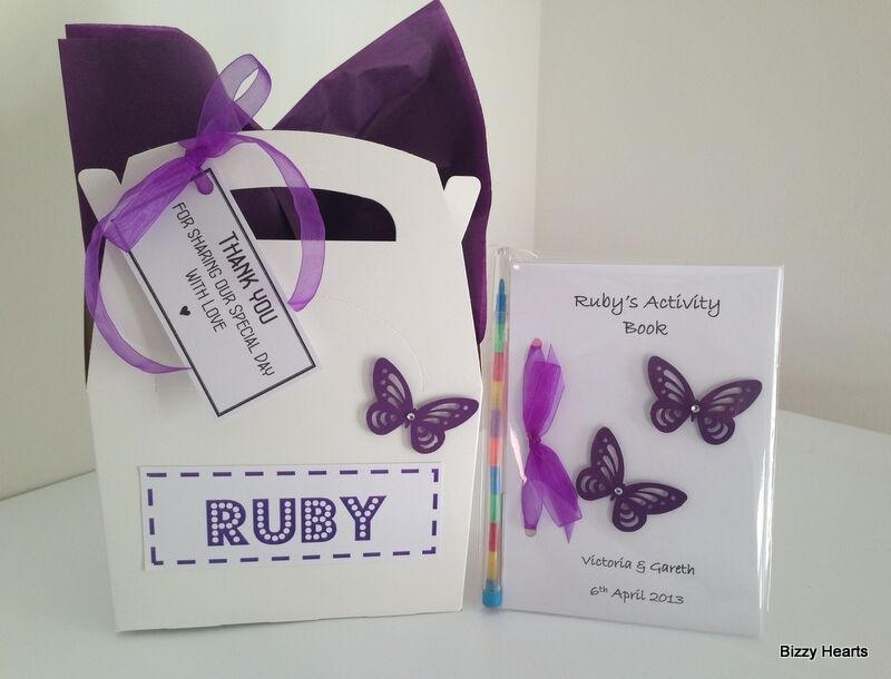 Personalised Wedding Gift Boxes Uk : Personalised CHILDRENS WEDDING ACTIVITY BOX and Pack Book Bag Gift ...