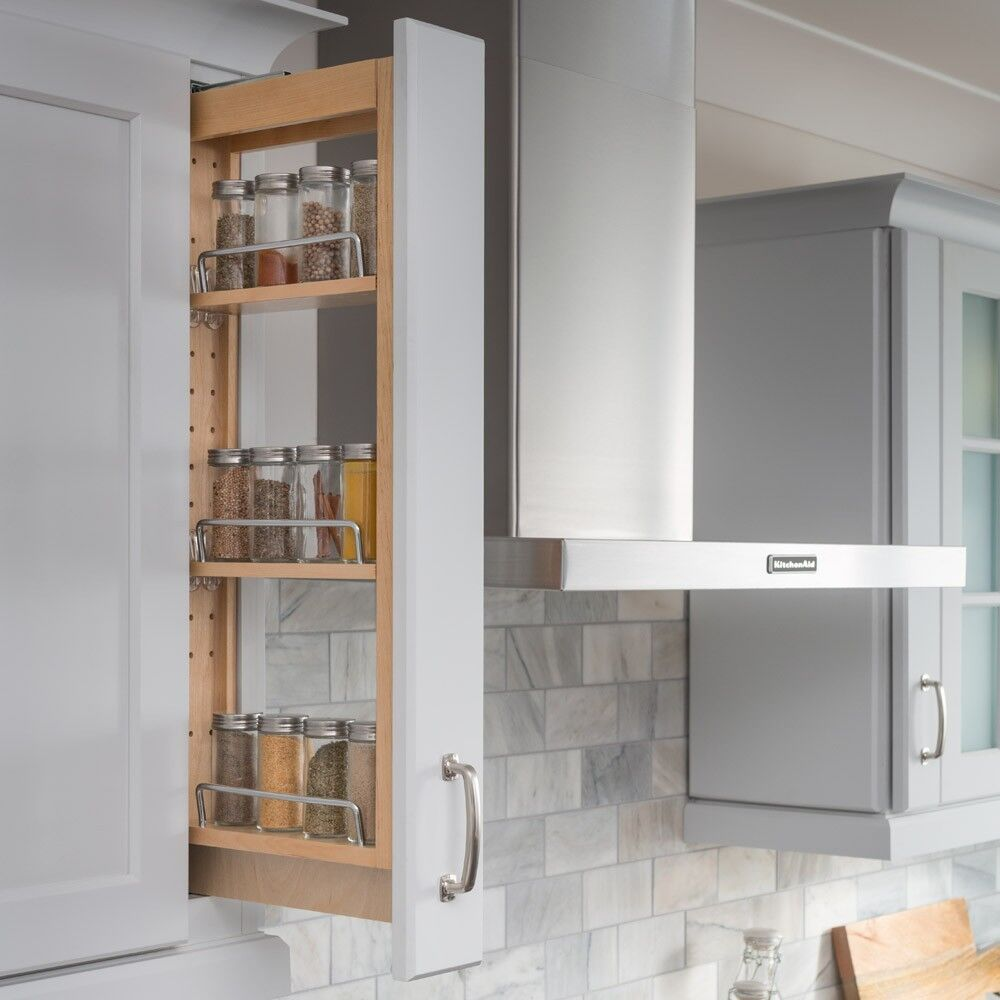 "Kitchen Shelf Wall: Kitchen Cabinet-Wall Cabinet Filler Pullout- 3"" X 11-1/8"