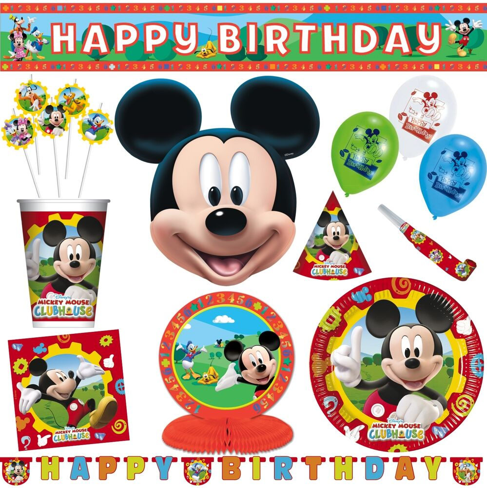 micky maus kinder geburtstag party deko tisch disney mickey mouse wunderhaus ebay. Black Bedroom Furniture Sets. Home Design Ideas