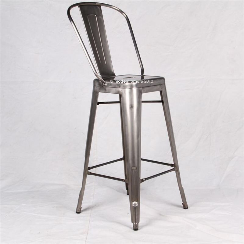 Brushed Galvanized Tolix Quot Style Quot Marais Cafe Restoration