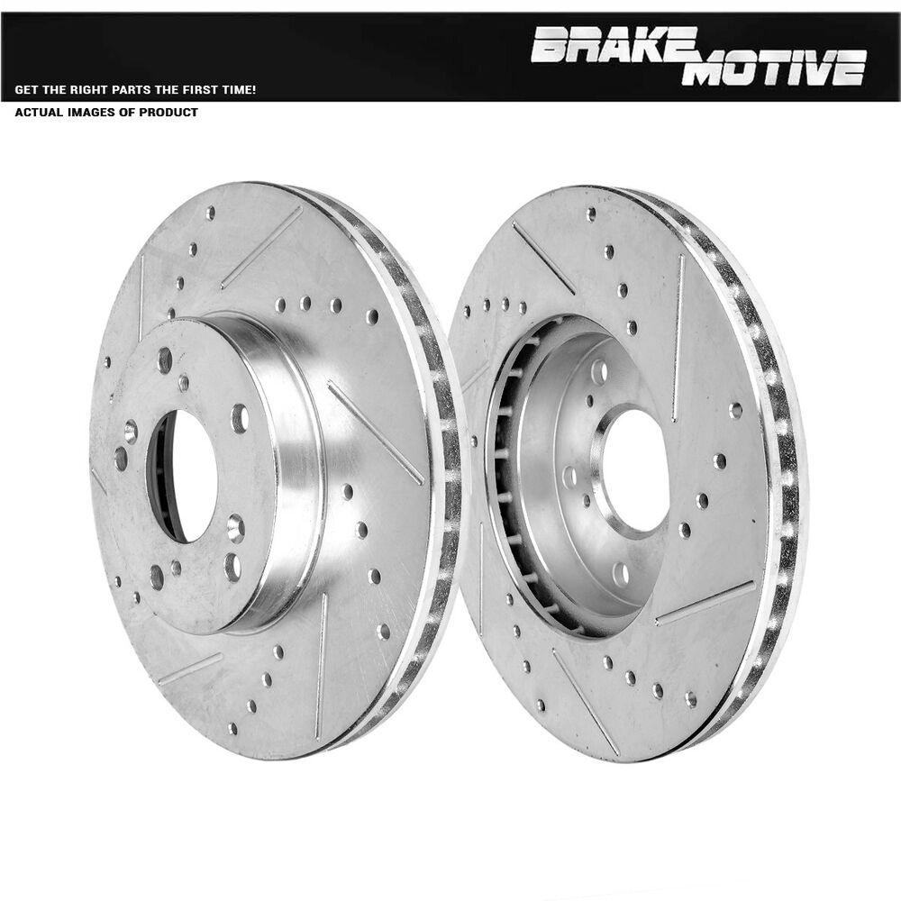 Front Performance Drilled And Slotted Brake Rotors Honda