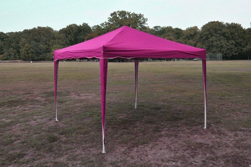 Pink 10 X 10 Easy Pop Up Canopy Gazebo Party Tent Bbq