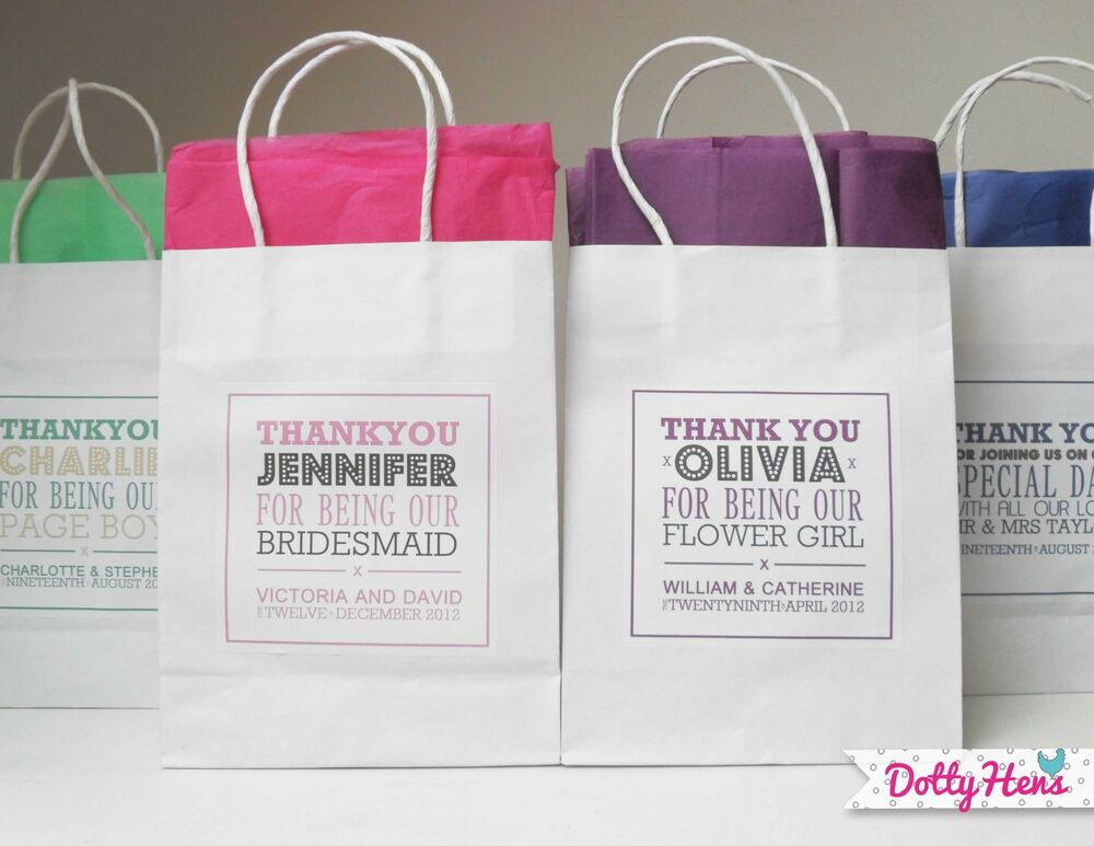 LARGE PERSONALISED PAPER WEDDING CHRISTENING FAVOUR PARTY GIFT BAGS ...