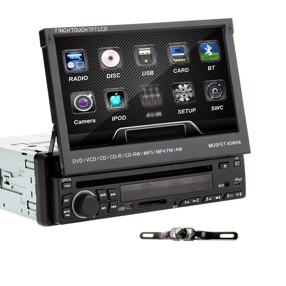 "7"" Single 1 Din Touch Screen In Car Deck Radio DVD Player"