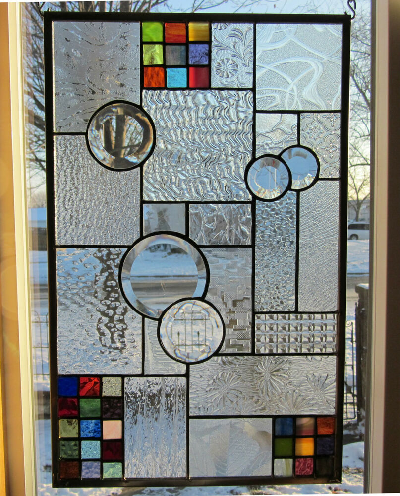 Facination stained glass windows panel transom ebay for Glass windows