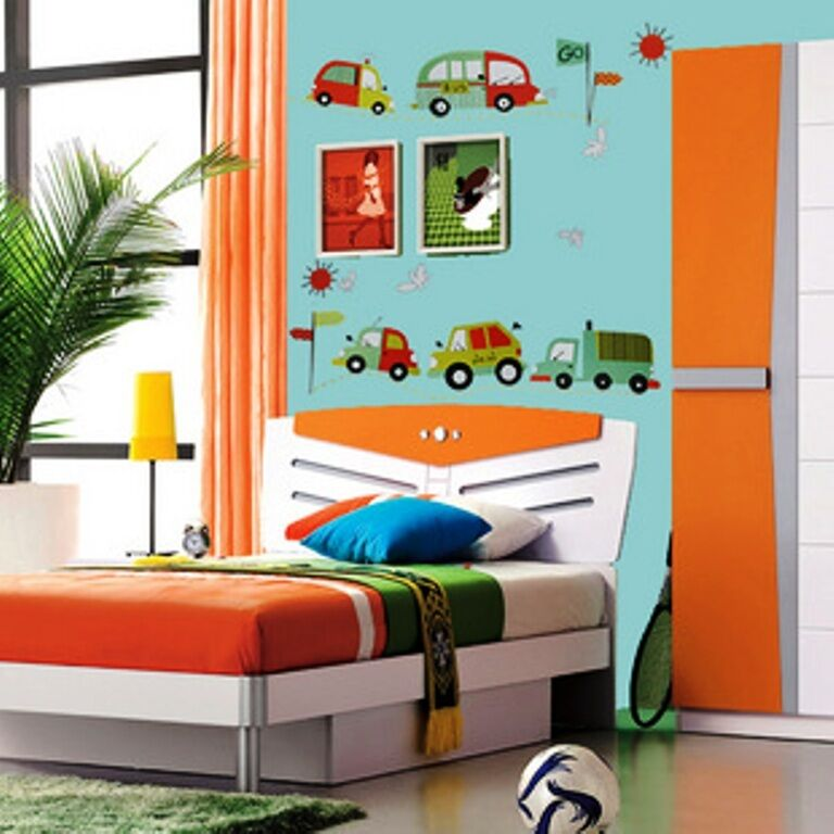 Car truck bus removable wall sticker art home decal baby - Childrens bedroom wall stickers removable ...