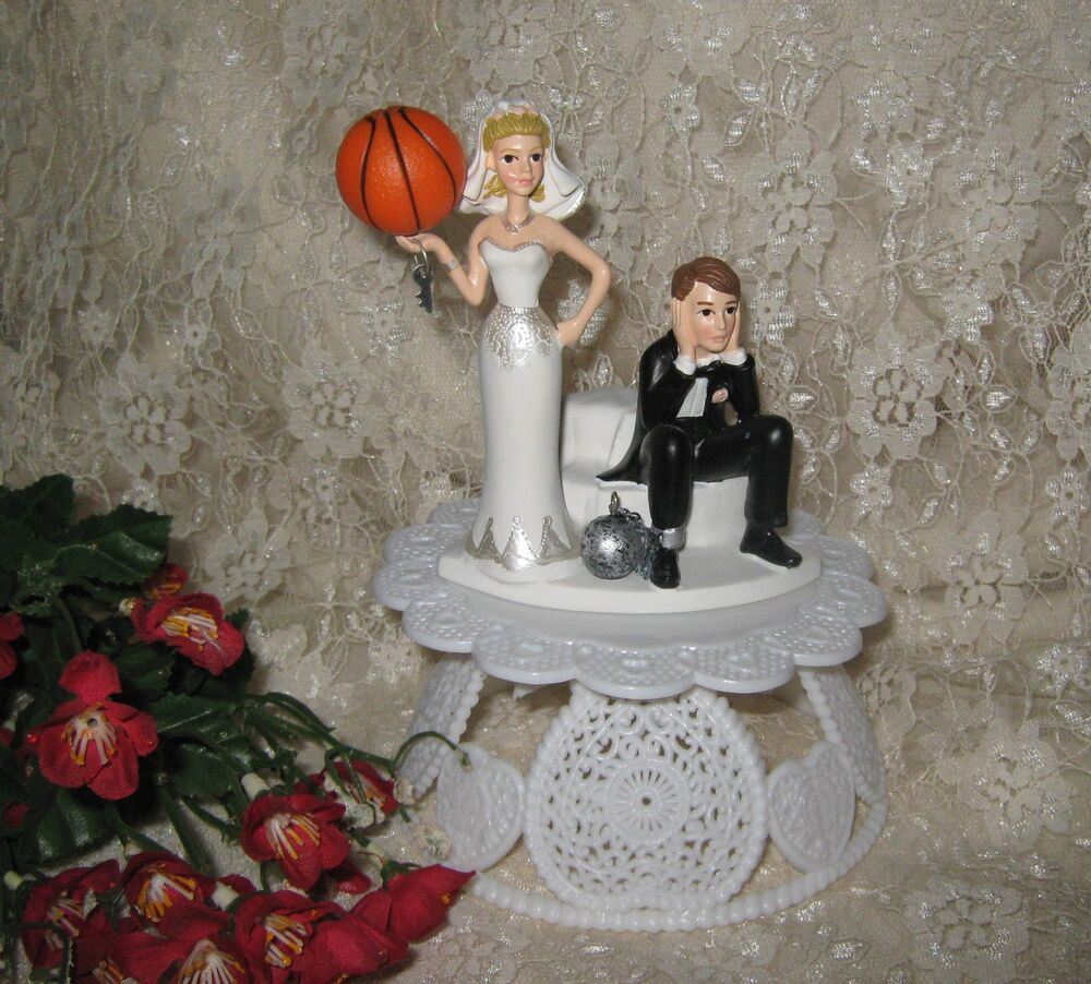 sports wedding cake toppers wedding reception basketball goal cake topper 7624