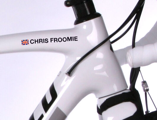 4x Personalised Bike Name Stickers Road Cycle Cycling