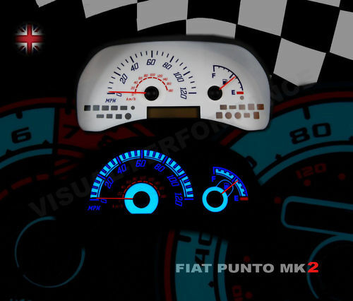 Fiat Punto Mk2 Speedo Gauge Interior Dash Clock Led Bulb Light