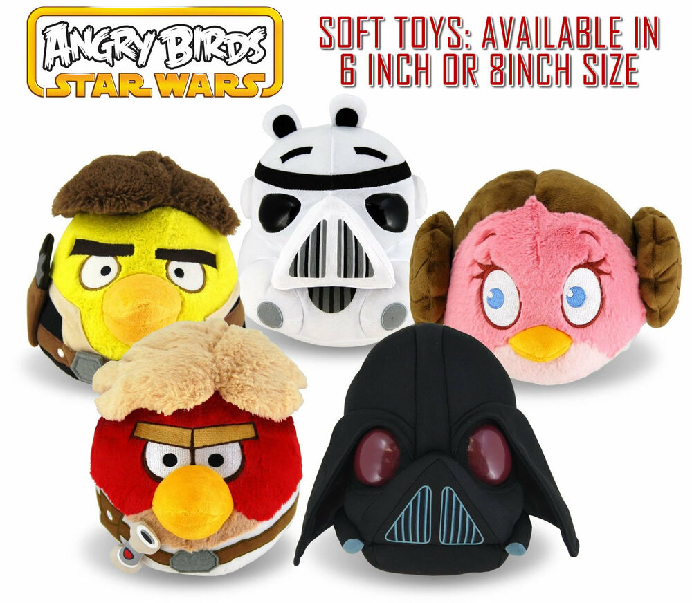 Angry birds star wars 6 or 8 inch plush soft toy all - Angry birds star wars 8 ...
