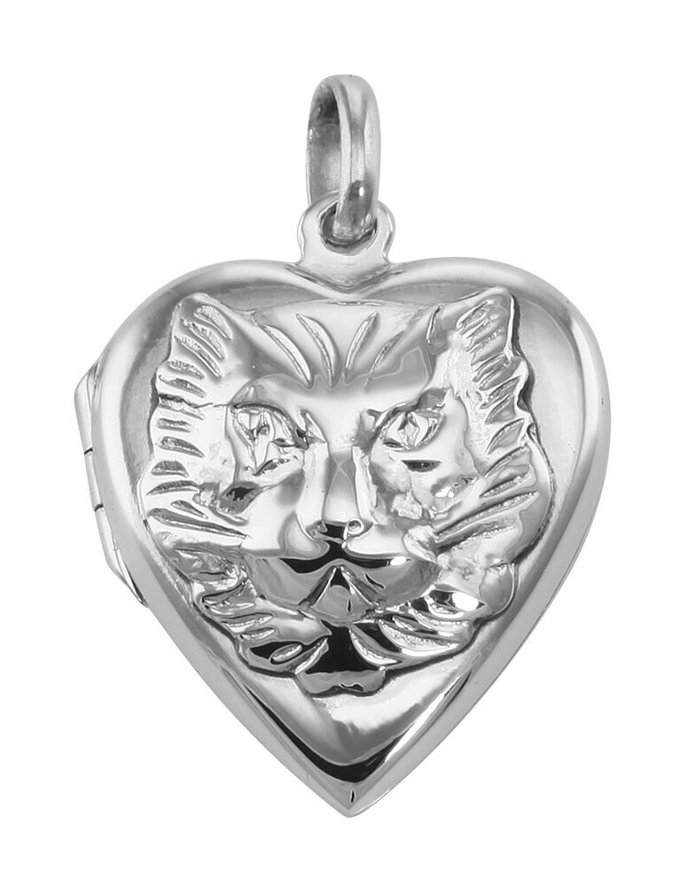 Heart Shaped Cat Sterling Silver Locket Pendant  Ebay. Ncaa Rings. Tungsten Wedding Rings. French Earrings. Acrylic Bangles. Hawaiian Necklace. Bodhi Bracelet. Fenix Watches. Alzheimer Awareness Bracelet