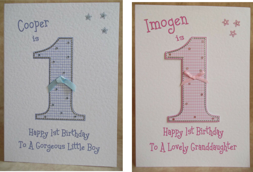 Handmade Personalised 1st 2nd 3rd 4th 5th 6th Boys Girls Birthday Card Any Age