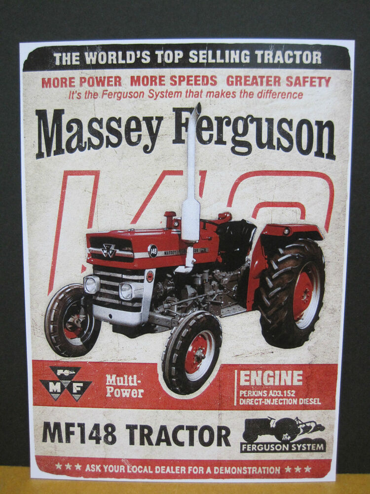 Massey Ferguson Tractor Packages : Massey ferguson multi power tractor mf metal repro sign