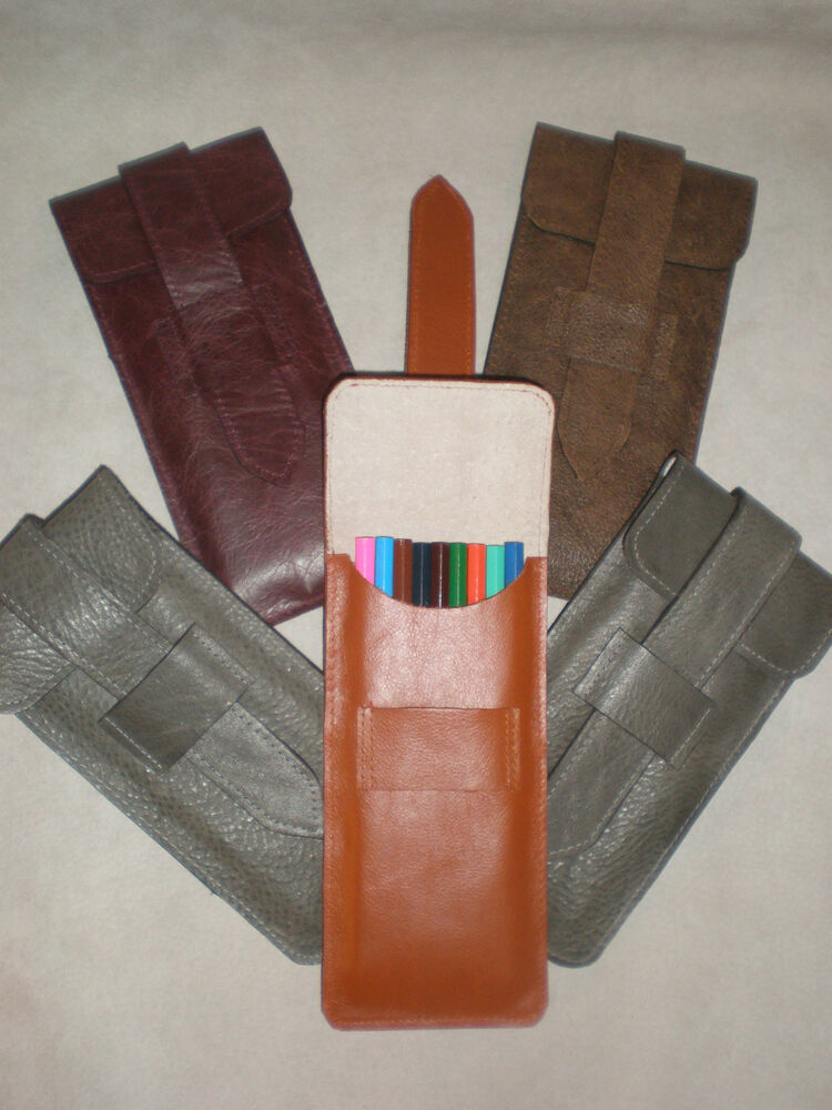 Real Genuine Leather Pencil Case, pencils, pouch. clutch ...