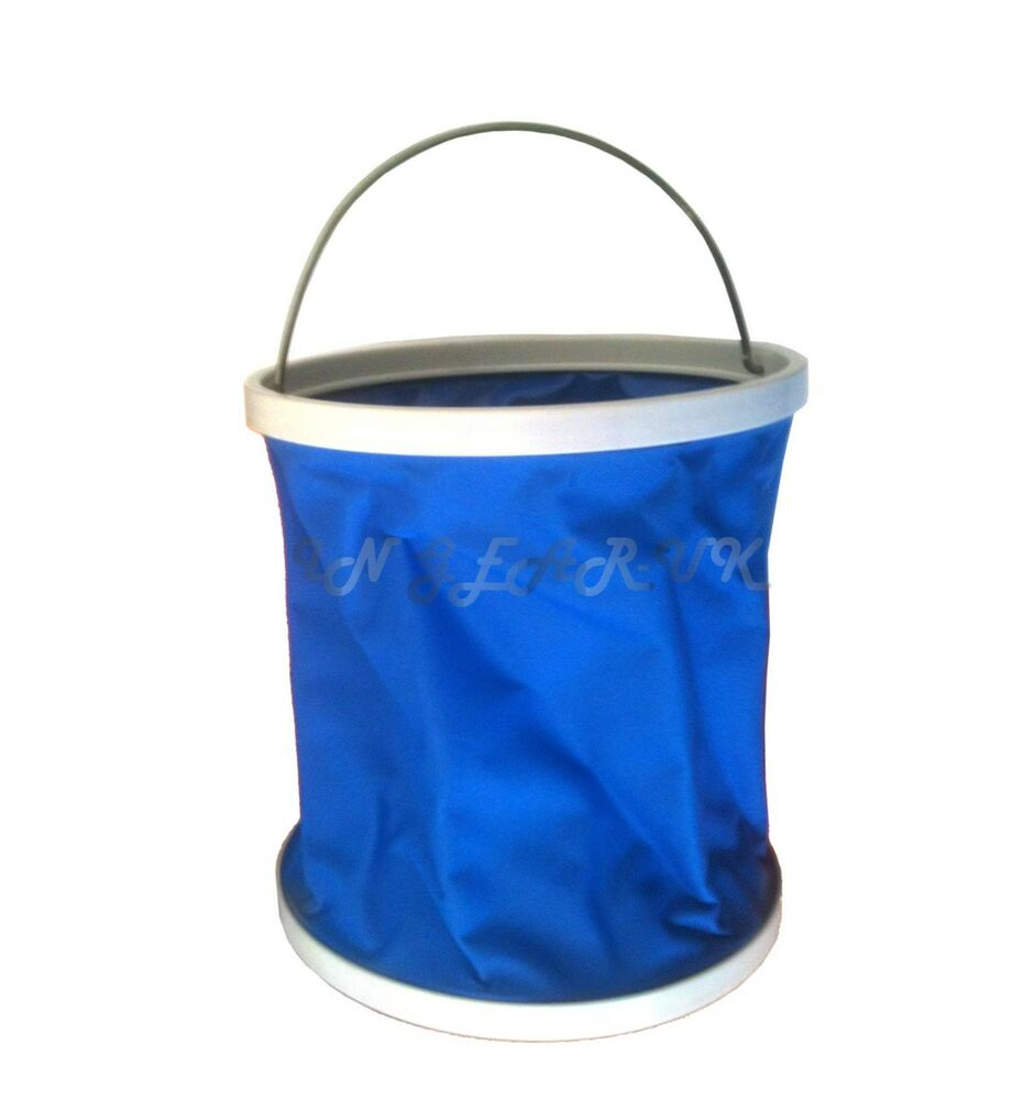 11 L Litre Collapsible Water Carrier Canvas Bucket Storage