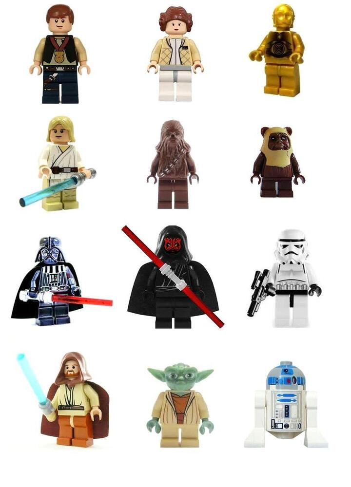 12 Stand Up Lego Star Wars Premium Wafer Paper Edible