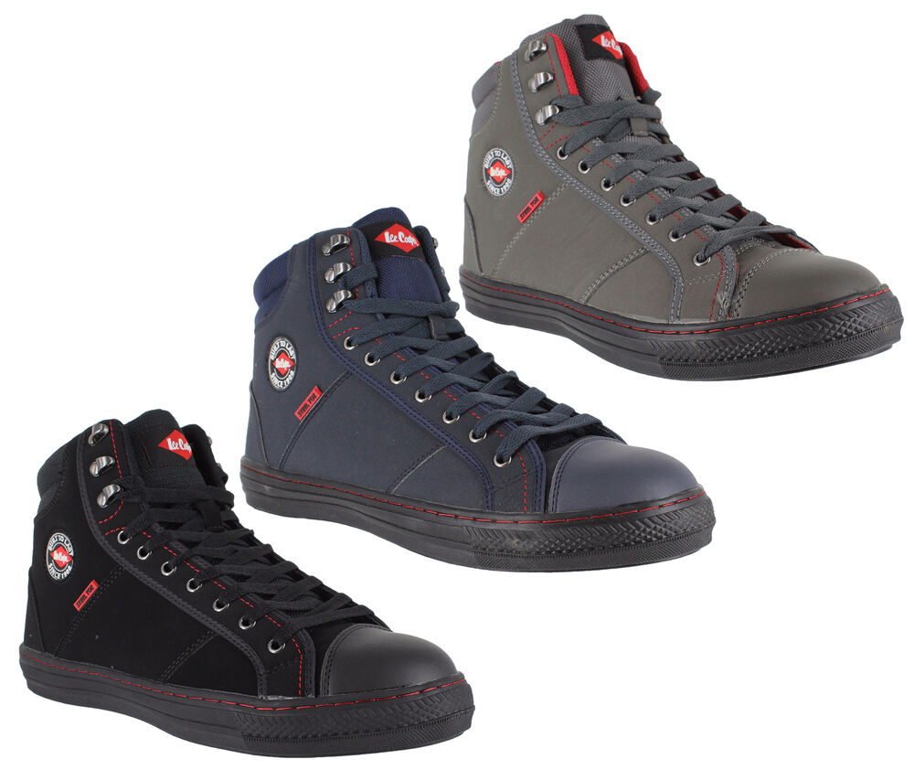 Mens Womens Lee Cooper Steel Toe SB Safety Baseball Boots High Top Sizes 3  to 12  ba41f92cd