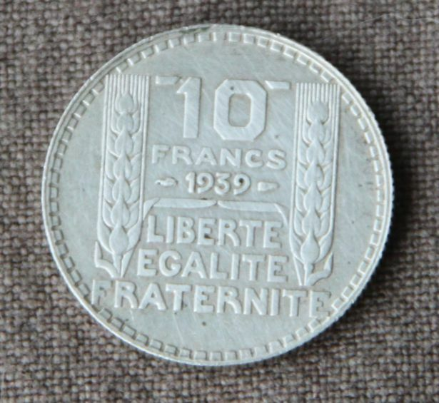 monnaie france pi ce 10 francs argent turin 1939 silver coin 1 rare rameaux long ebay. Black Bedroom Furniture Sets. Home Design Ideas