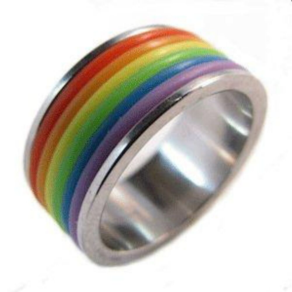 rainbow ring lgbt pride miniature - photo #3