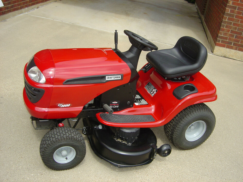 Craftsman 3000 Lawn Tractor : Craftsman lt lawn tractor hp ohv engine quot deck