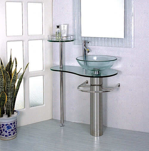 bathroom vanities with bowl sink bathroom vanities pedestal vessel sink bowl 28 in glass 22469
