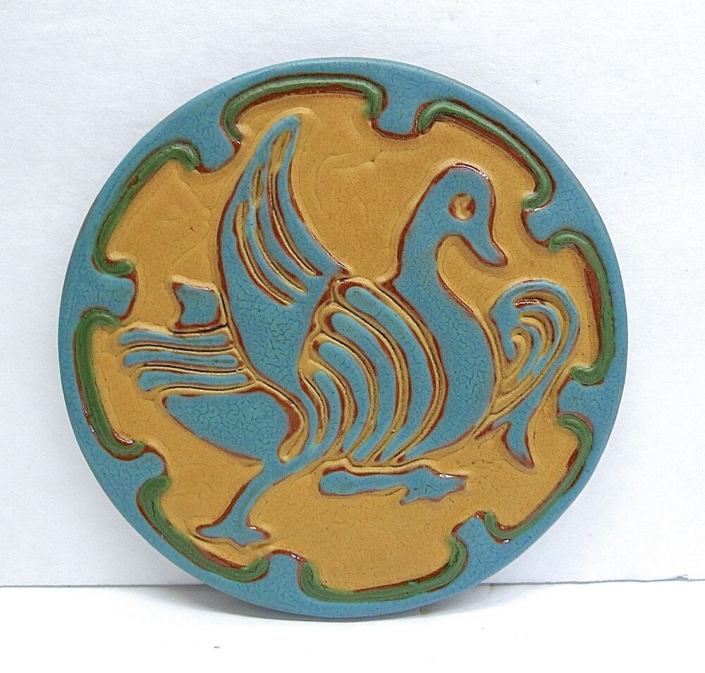 california faience vintage art tile duck ebay. Black Bedroom Furniture Sets. Home Design Ideas
