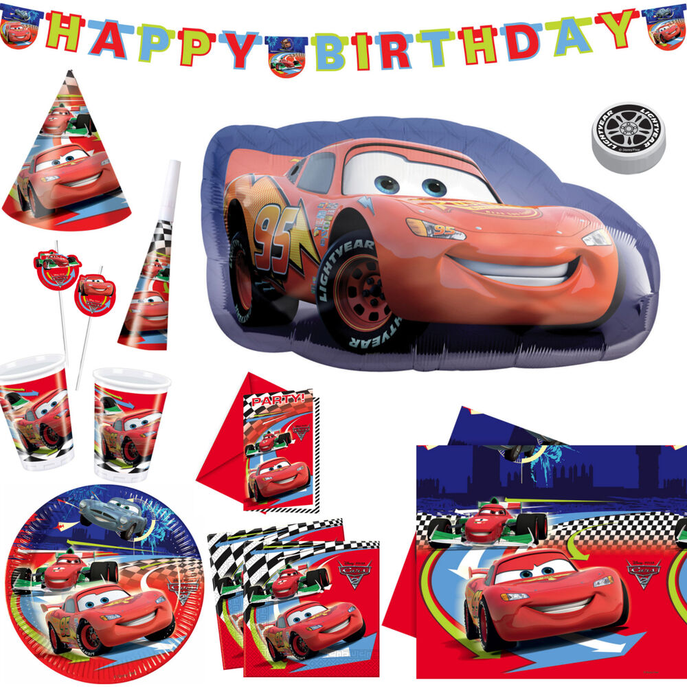 cars 2 kindergeburtstag party deko set tischdeko junge disney geburtstag motto ebay. Black Bedroom Furniture Sets. Home Design Ideas