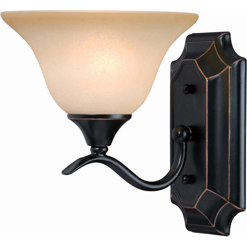 oil rubbed bronze 1 bulb bathroom light wall sconce
