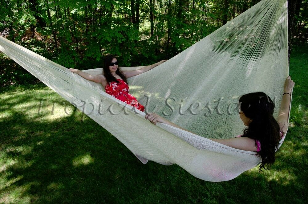 Extra Large Cotton Mexican Mayan Hammock Bed Handwoven