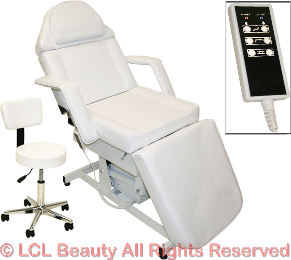 White electric massage facial table bed chair barber for A and s salon supplies