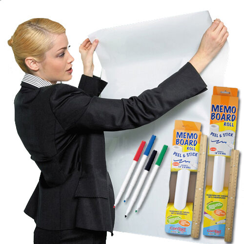 Contact Adhesive Dry Erase Memo Board Peel Amp Stick Roll In