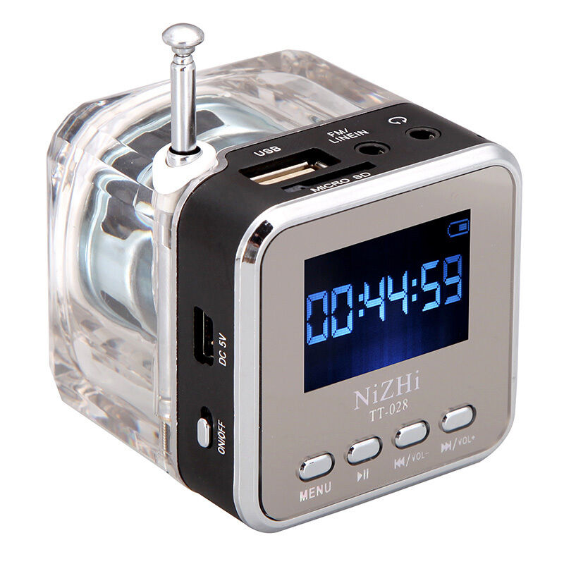 mini speaker portable tf music mp3 4 player usb disk fm radio black new ebay. Black Bedroom Furniture Sets. Home Design Ideas