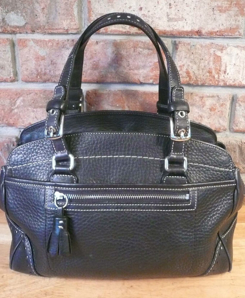 GENUINE COACH BLACK LEATHER No. J04S-5031 SATCHEL Style ...