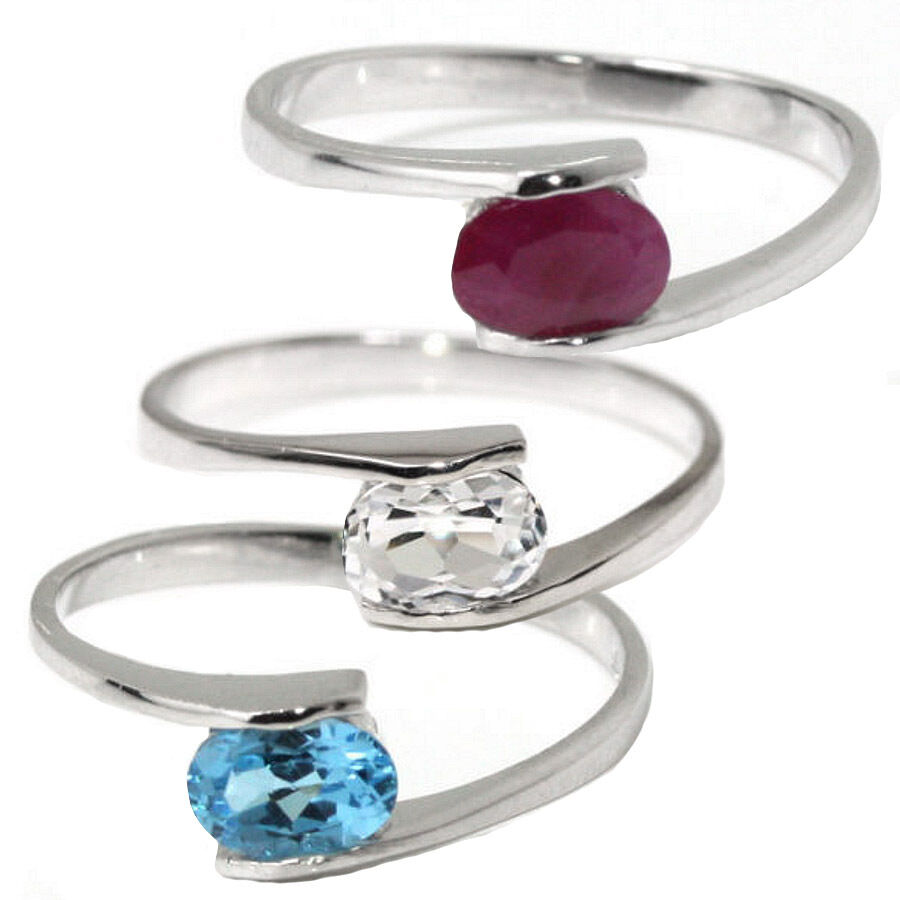 Birthstone mother s ring sterling stackable 925 natural gemstone many