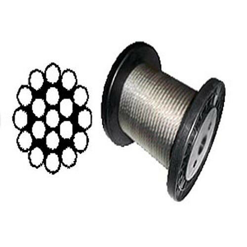t 316 grade 1 x 19 stainless steel cable wire rope 3 16 1 000 ft ebay. Black Bedroom Furniture Sets. Home Design Ideas
