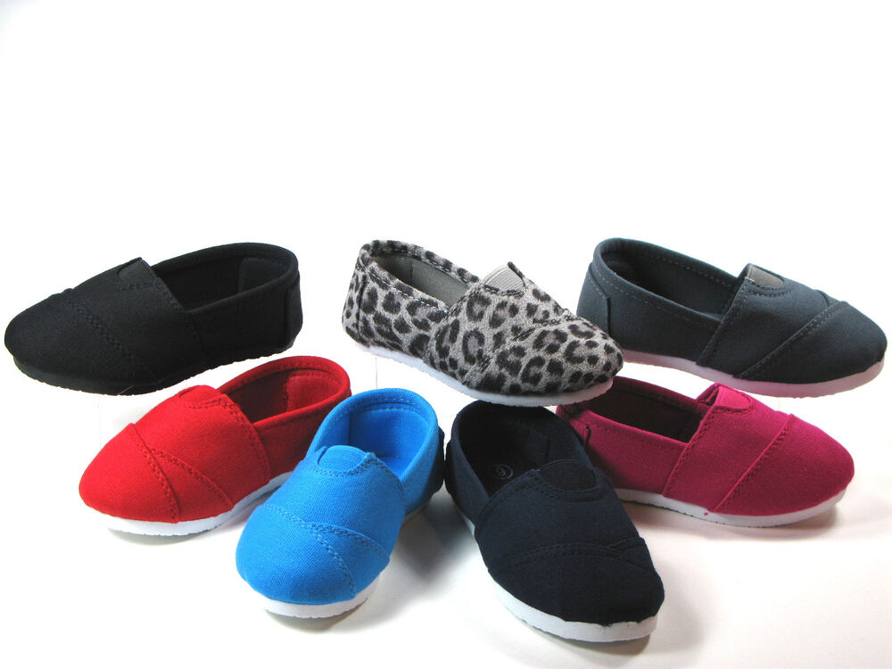 Slip Flats for Baby Toddler Girls or Boys Canvas Shoes