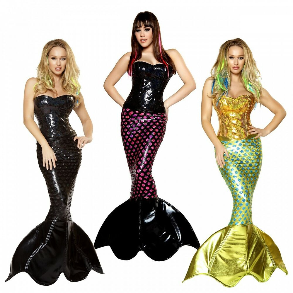 sc 1 st  eBay & Mermaid Costume Adult Sexy Halloween Fancy Dress | eBay