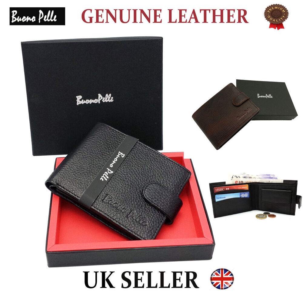 Real Genuine Leather Mens Wallet Designer Buono Pelle High Quality ...