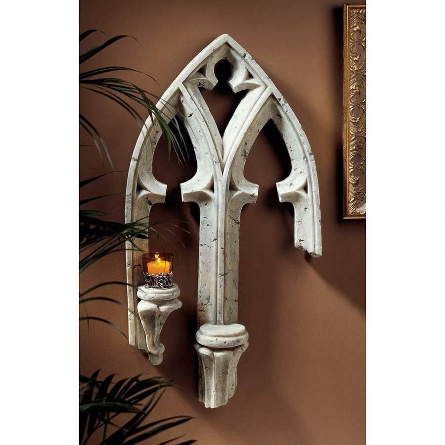 Gothic Wall Sconces: European Gothic Architecture Double Ledge Candle Holder