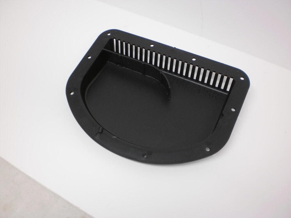 Black Side Wall Forced Air Vent Cowl Exterior Motorcycle