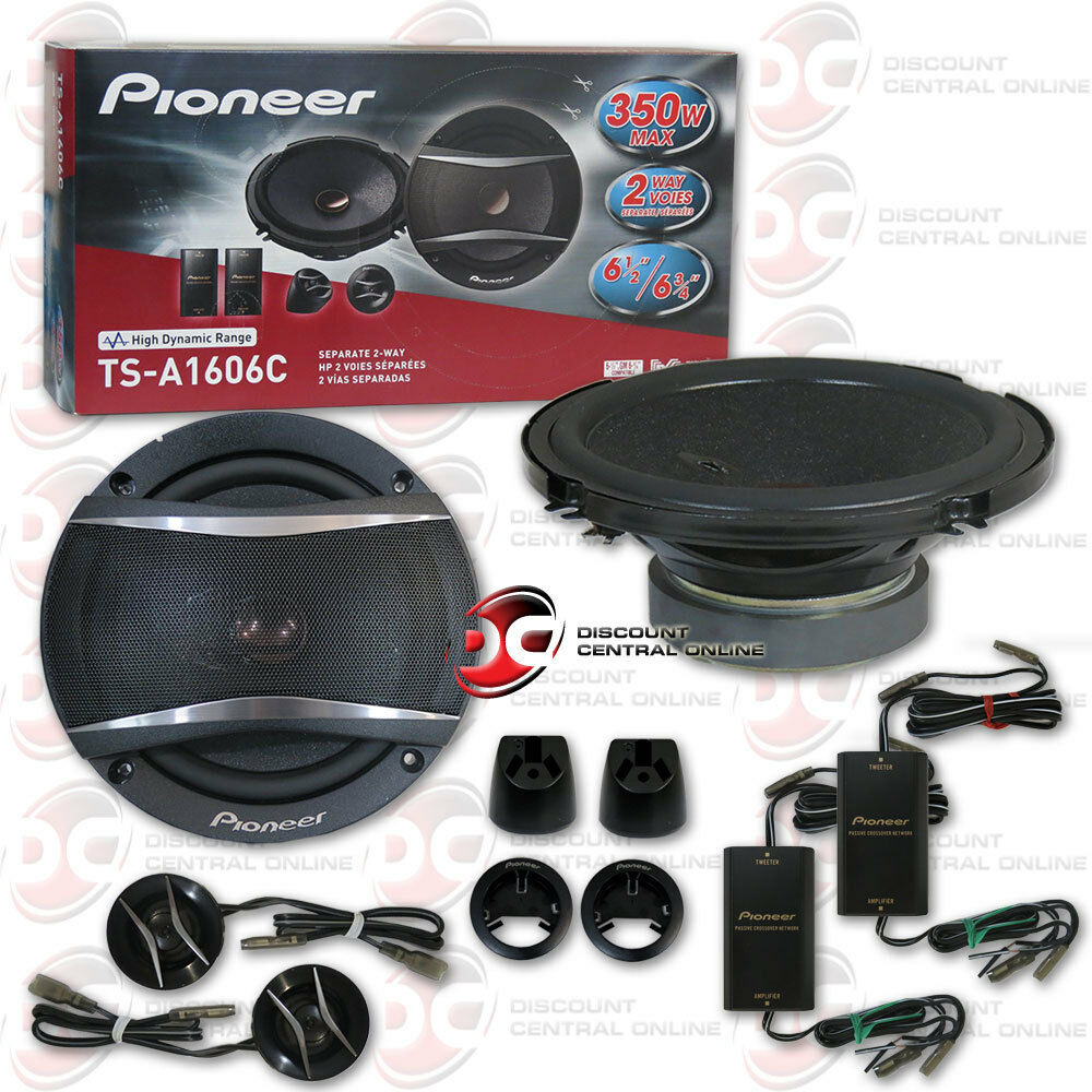 pioneer ts a1606c 6 5 2 way car audio component speaker. Black Bedroom Furniture Sets. Home Design Ideas