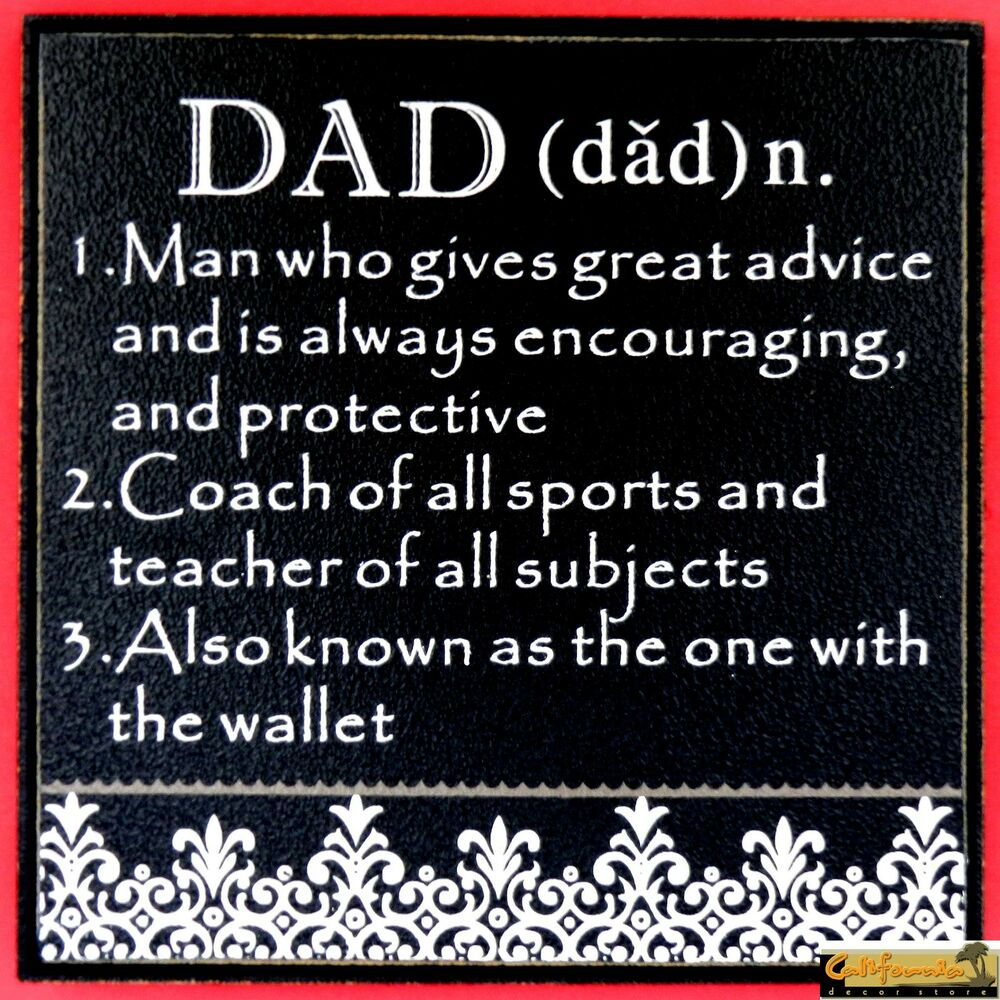 Decorative Quot Dad Quot Wood Plaque Father S Day Gift Sign
