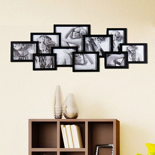 adeco 10 opening wooden wall collage photo picture frames. Black Bedroom Furniture Sets. Home Design Ideas