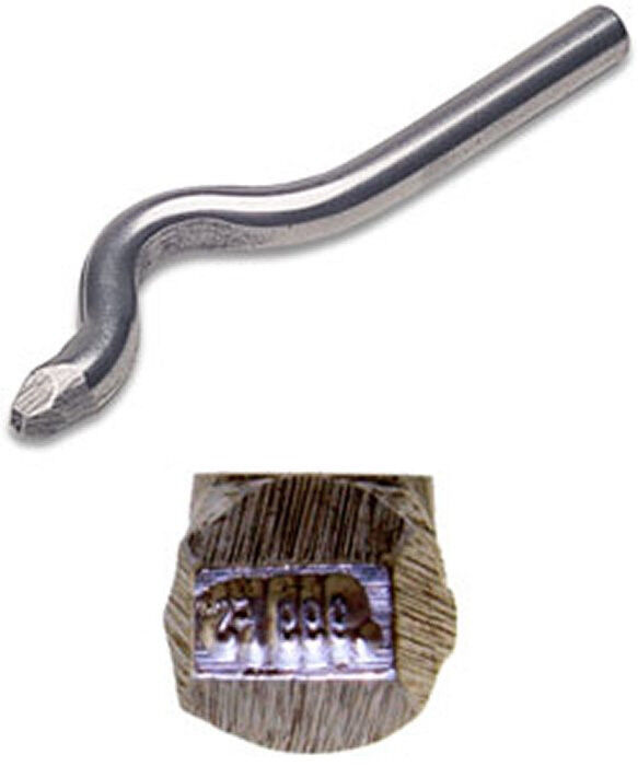 Jewelers metal stamp 999fs fine silver bent ebay for Fine silver 999 jewelry