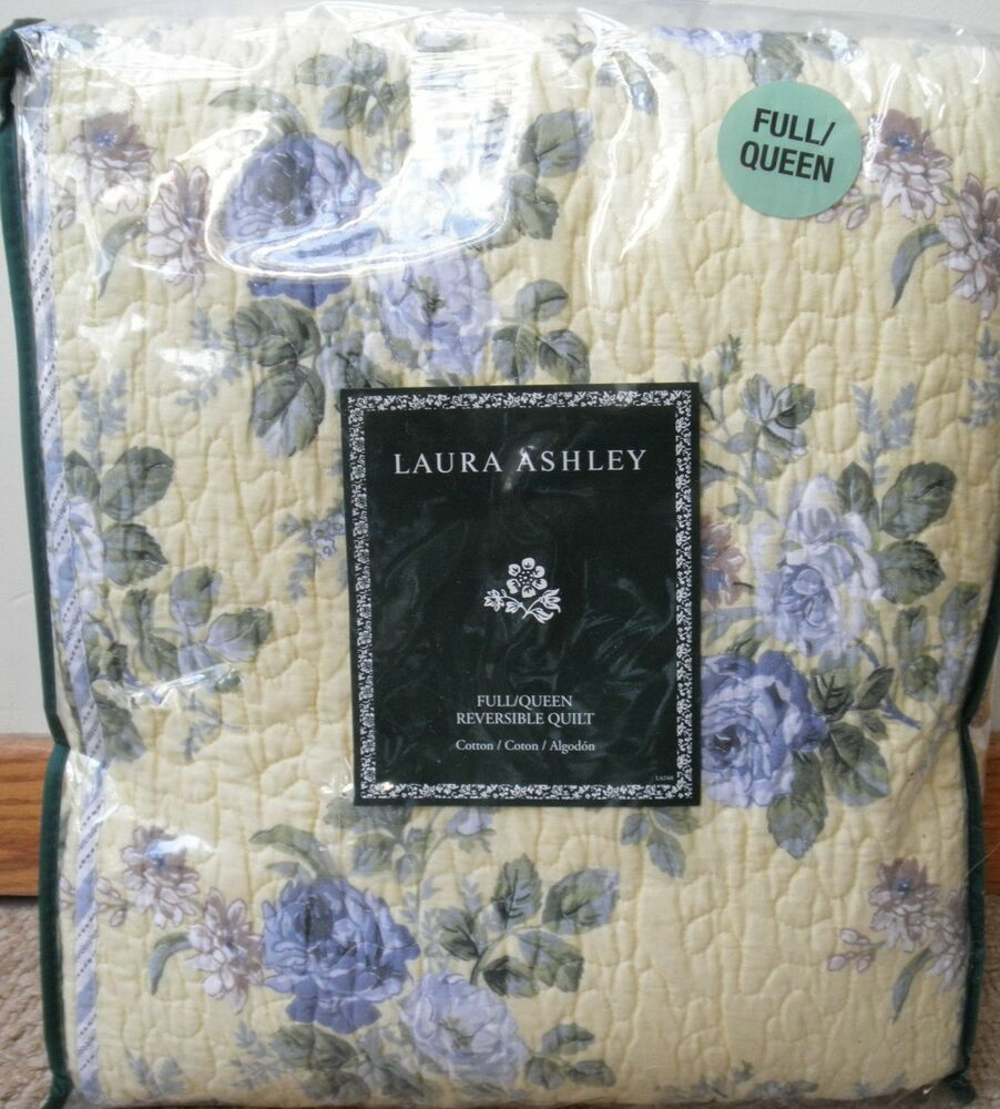 3 Pc New Laura Ashley Linley Yellow Full Queen Quilt And Pair Standard Shams Ebay