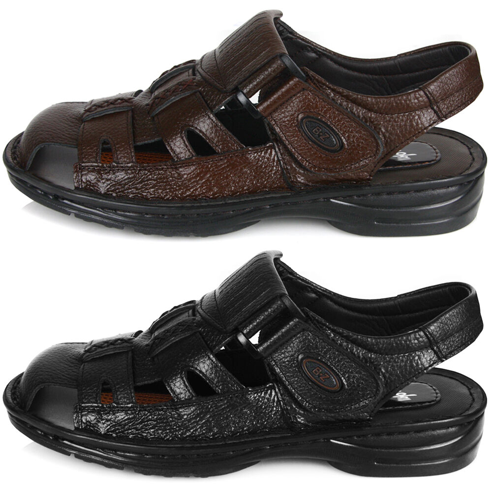 new premium comfort mens summer leather casual sandals