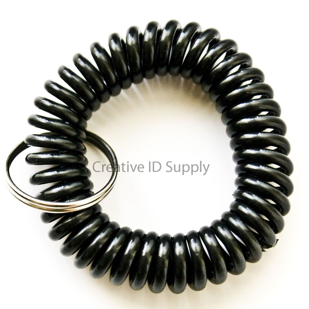 bracelet key holder wholesale 12 24 50 100 pcs spiral wrist coil key chain key 7321