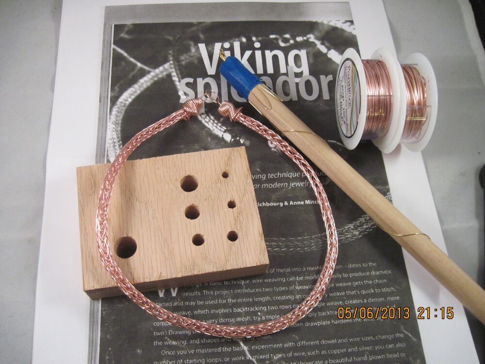 Knitting With Wire Instructions : Rose gold viking knit necklace kit instructions