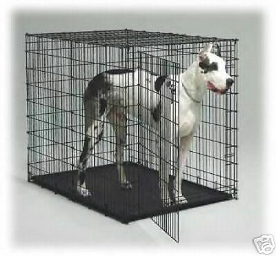 54 Quot Xl Giant Alaskan Malamute Dog Crate Kennel With Pan Ebay