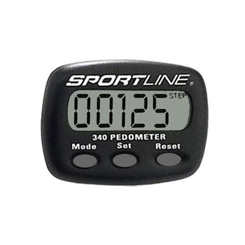 sportline 340 step and distance pedometer manual